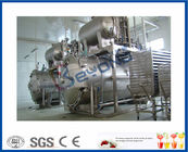 Industrial Dairy Milk Pasteurization Equipment , 0.6MPa Bottle Steam Sterilizer