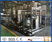 1000L / H Soya Milk / Yogurt Processing Plant , Skid Mounted Flavored Milk / Juice Production Line