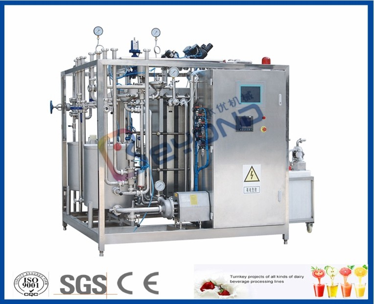 SUS304 Plate Milk Processing Equipment , PID Control Milk Pasteuriser Machine