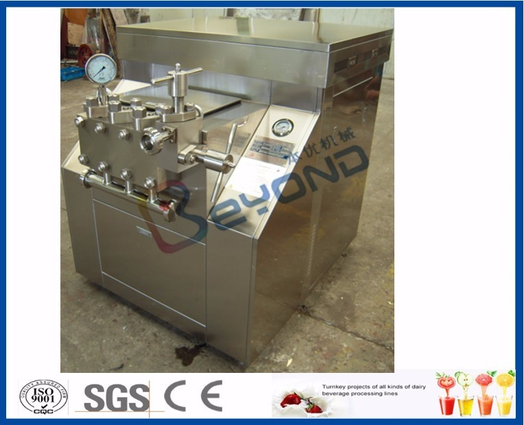 500L - 8000L Volume Small Scale Milk Homogenizer Processing Line ISO Approved
